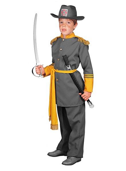 Officier des États du Sud Déguisement Enfant