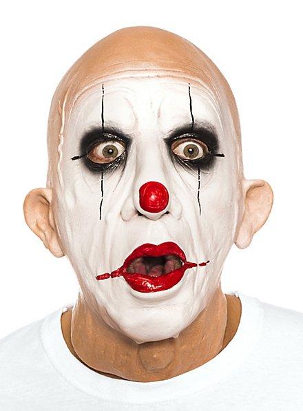 Old clown mask made of foam latex
