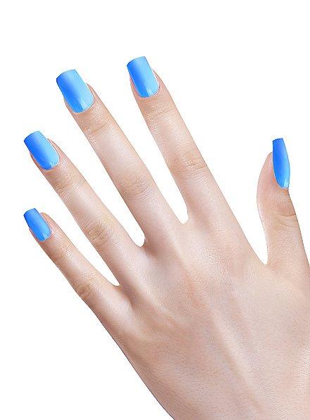 Ombre Fingernägel neonblau