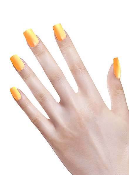 Ombre Fingernails neonorange