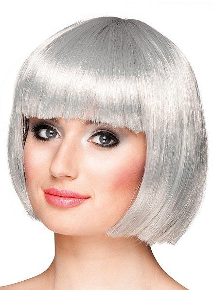 pageboy cut silver-grey