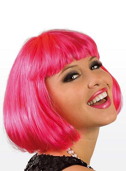 Pageboy hot pink Wig