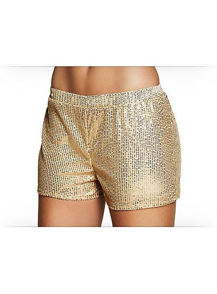 Pailletten-Shorts Damen gold