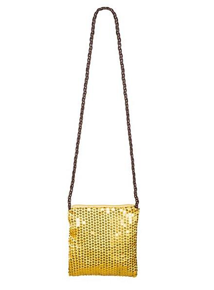 Pailletten Tasche gold