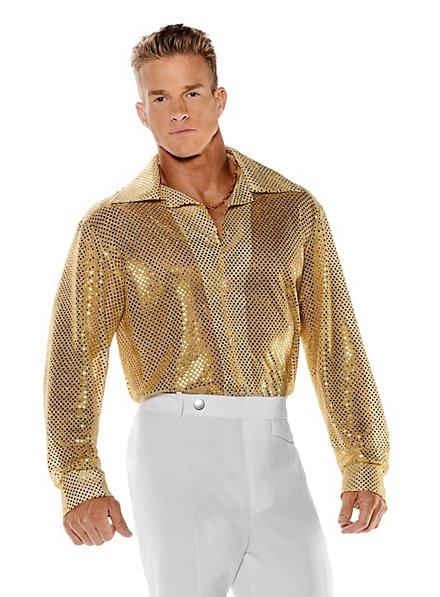 Paillettenhemd gold