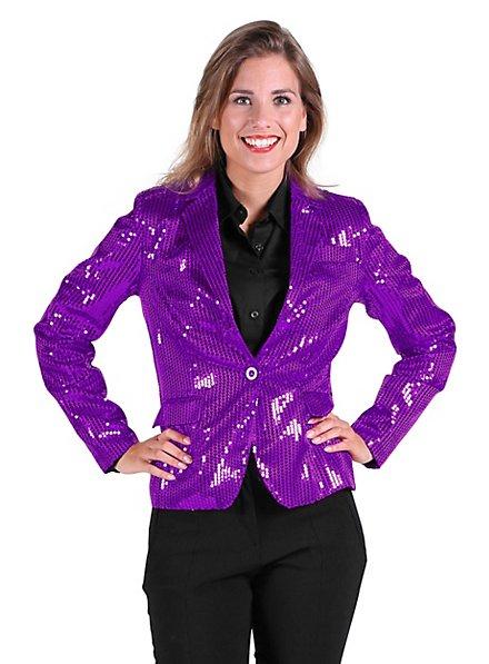 Paillettenjacke für Damen lila