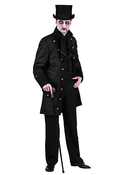 Paisley men's coat black