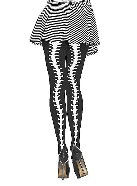 Pantyhose with spine motive
