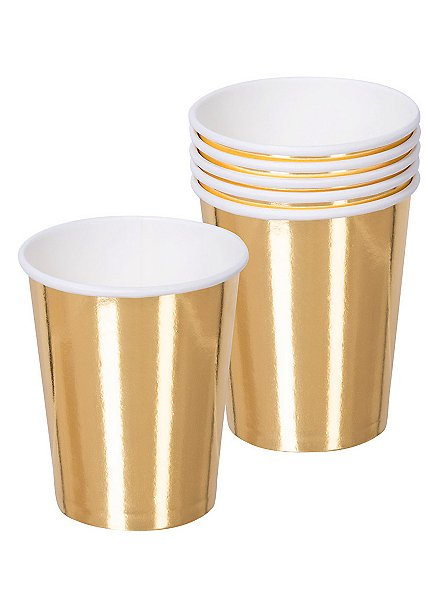 Pappbecher gold  6 Stück