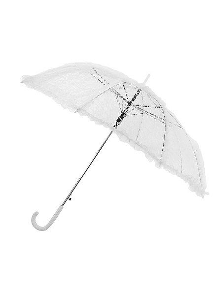Parapluie en dentelle blanche