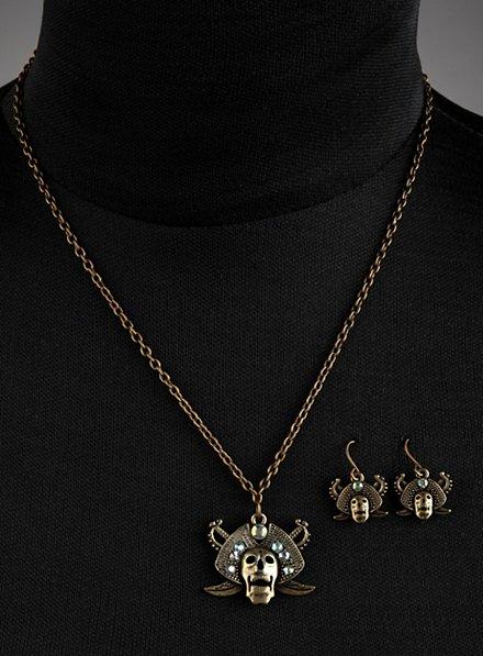 Parure de bijoux « pirates maudits » blanche