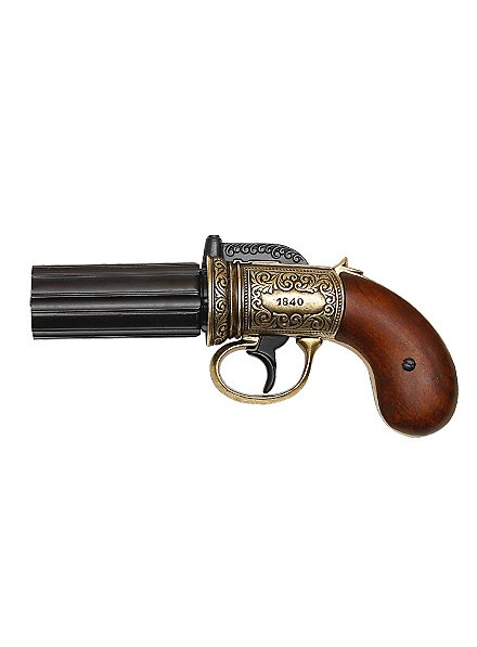 Pepperbox Revolver Replica Weapon