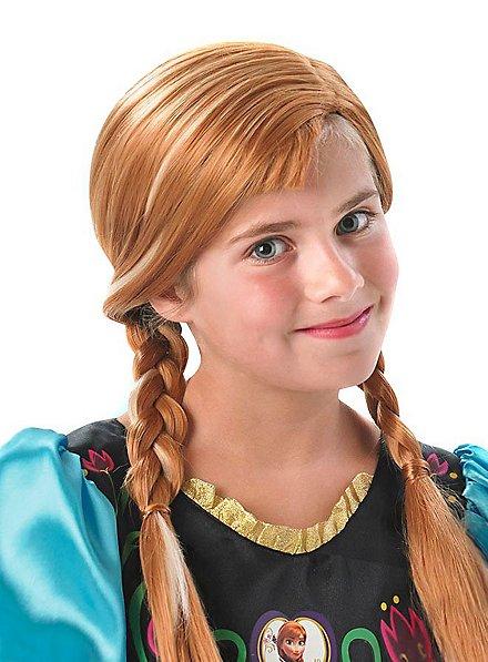 Perruque Anna la Reine des neiges pour enfant