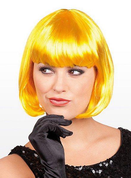 Perruque coupe au carré jaune