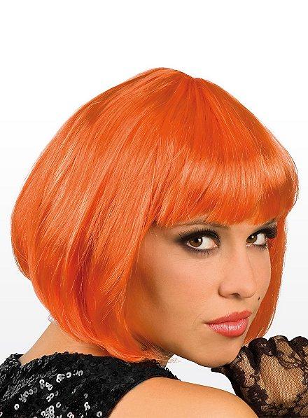 Perruque coupe au carré orange