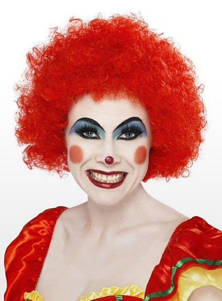Perruque de clown rouge