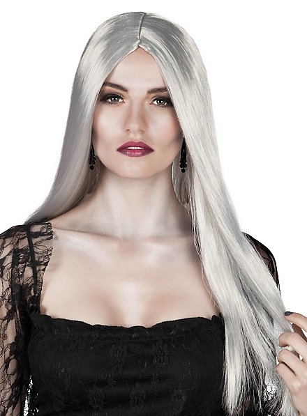 Perruque de sorcière grise