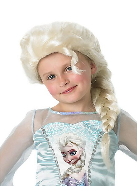 Perruque Elsa La Reine des neiges pour enfant