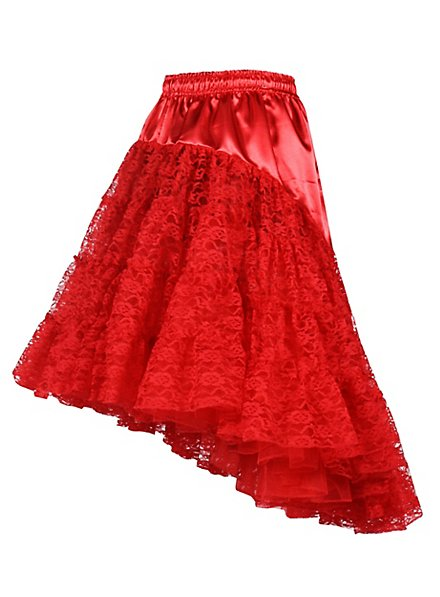 Petticoat with train red