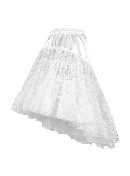 Petticoat with train white