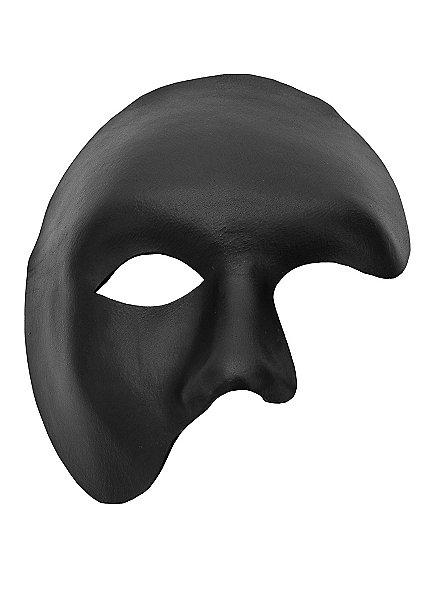 Phantom schwarz Venezianische Ledermaske