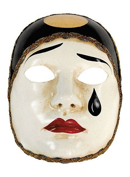 Pierrot normale bianco - Venezianische Maske