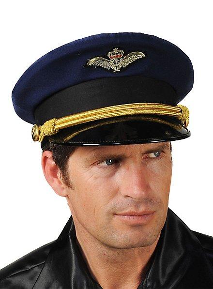 Pilotenhut blau