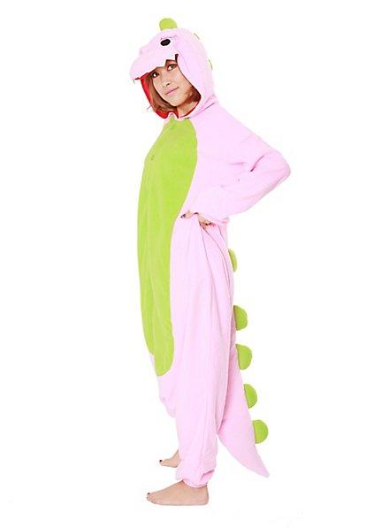 Pink Dino Kigurumi Kostüm