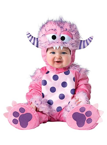 Pink monster baby costume