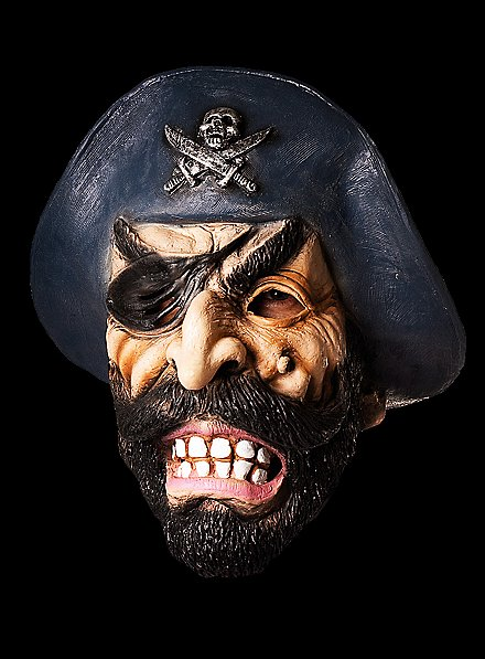 Pirate Captain Full Mask Made of Latex