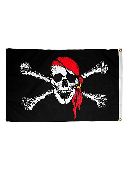 Pirate Flag with Head Scarf S