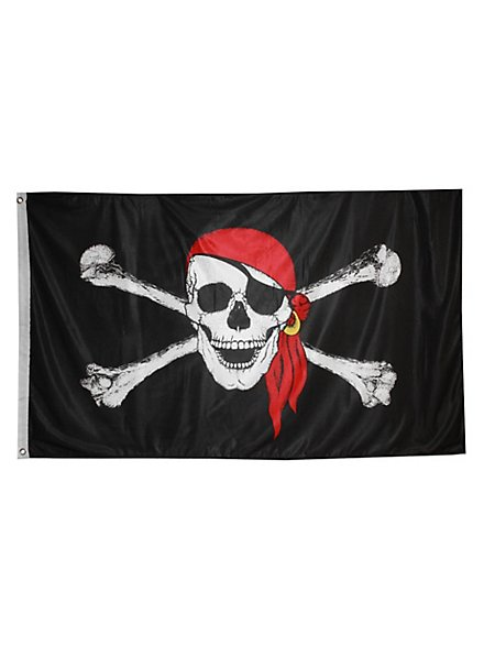 Piratenflagge mit Kopftuch