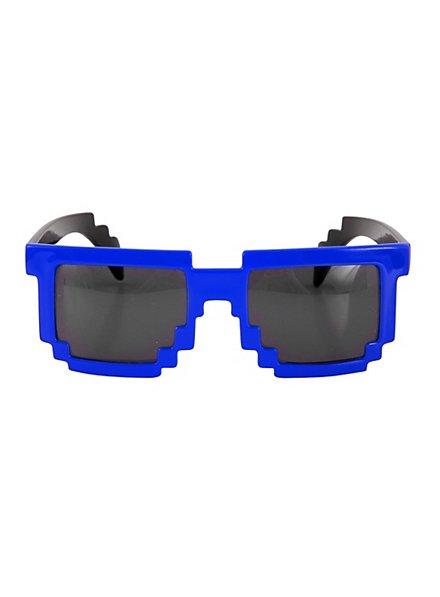 Pixelbrille blau