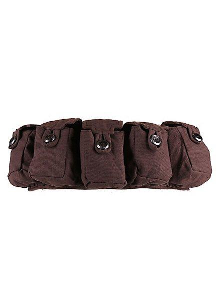 Pochette de ceinture médiévale marron