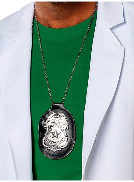 Police badge with chain