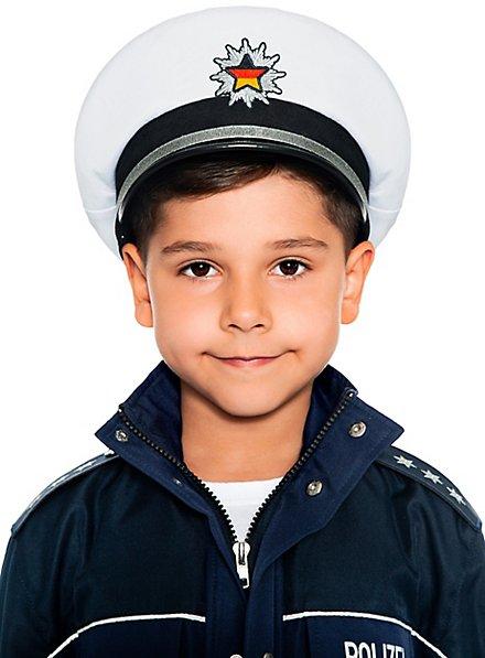 Police hat for children white