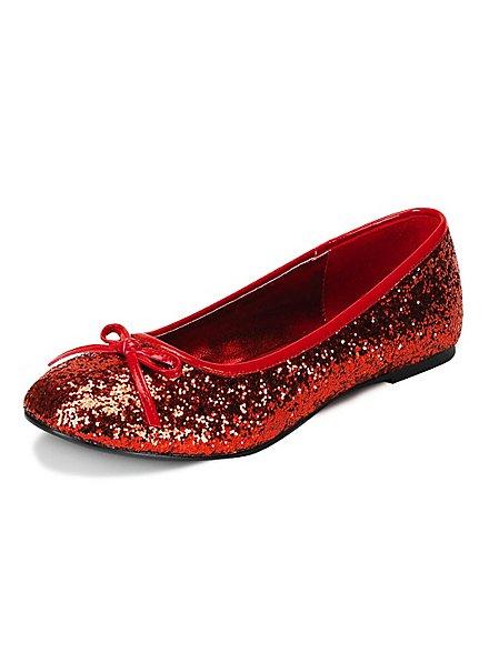 Pop Star Glitter red Ballerina Shoes