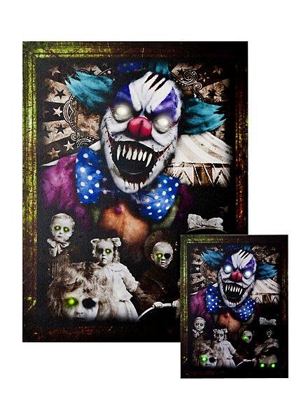 Portrait lumineux «clown d'horreur» grand