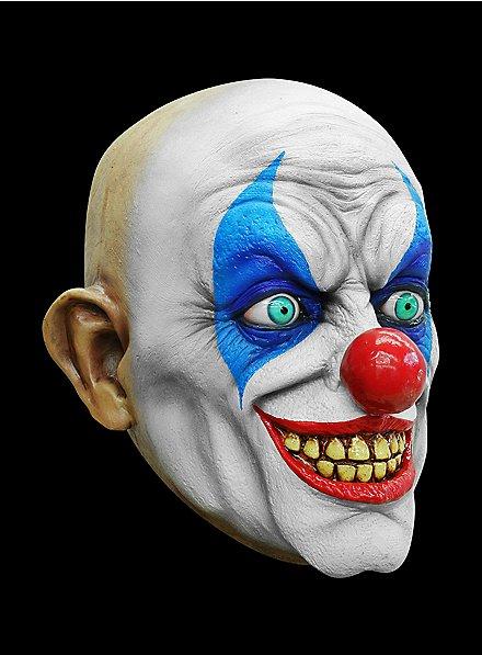Psycho Clown Maske des Grauens aus Latex
