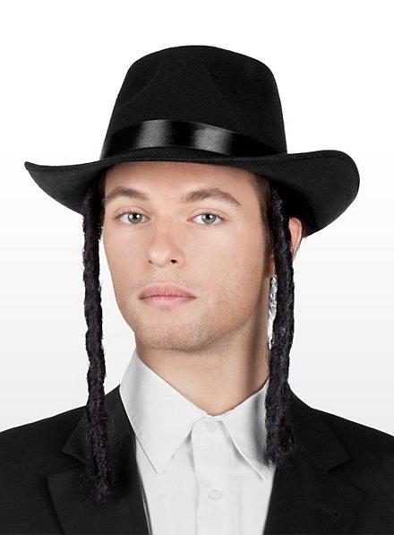 Rabbi Hut mit Schläfenlocken