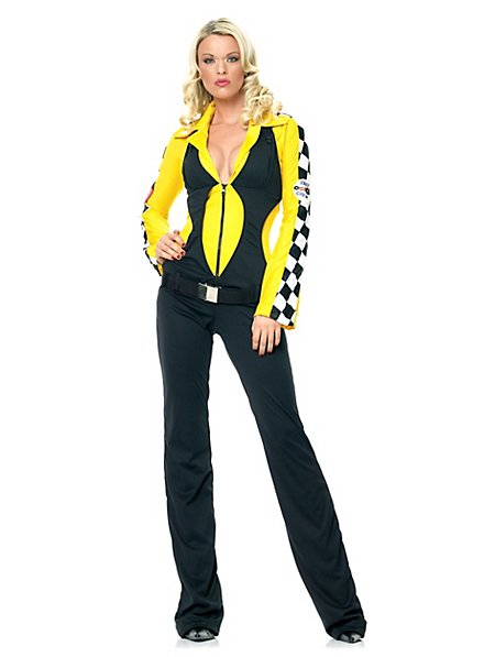 Racing Suit black-yellow Costume