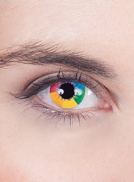 Rainbow contact lenses