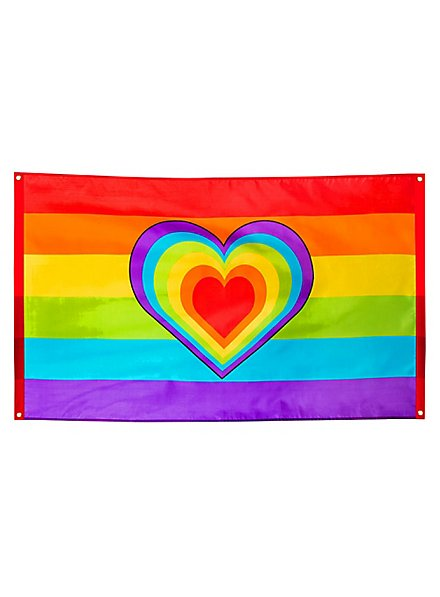 Regenbogen Fahne Heart