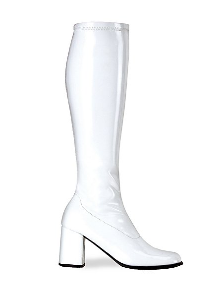 Retro Boots Stretch Vinyl white