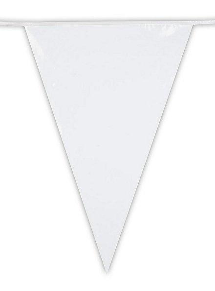 Riesenwimpelkette weiß 10 Meter