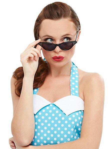 Rockabilly Cateye Brille schwarz