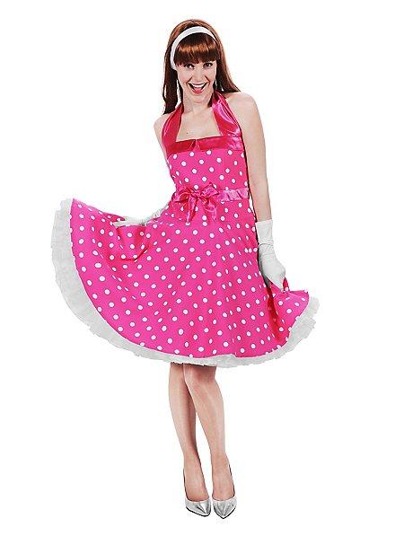 Rockabilly Kleid pink-weiß