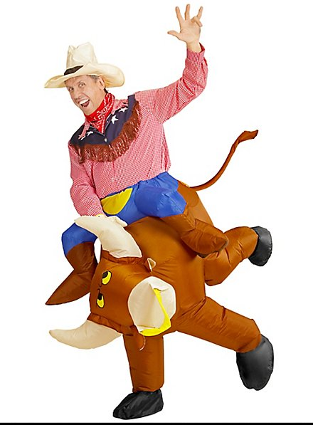 Rodeo rider inflatable costume