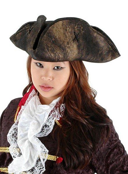 Rustic Tricorne Hat black