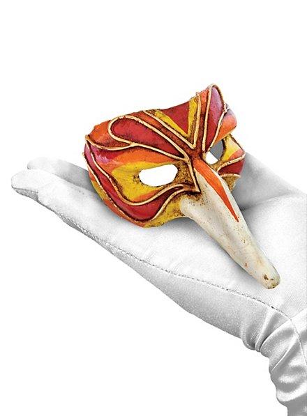 Scaramouche Piccolo Arlecchino Rosso Venezianische Miniaturmaske